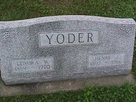 YODER, LENORA - Washington County, Iowa | LENORA YODER