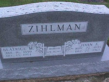 ZIHLMAN, JOHN - Washington County, Iowa | JOHN ZIHLMAN