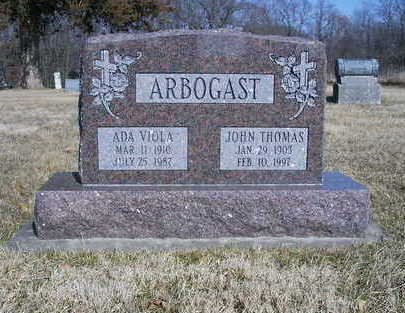 ARBOGAST, JOHN THOMAS - Washington County, Iowa | JOHN THOMAS ARBOGAST