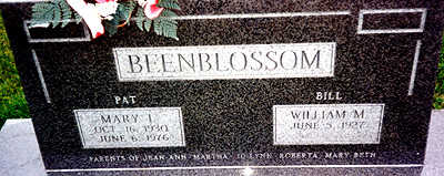 BEENBLOSSOM, MARY LUCILLE - Washington County, Iowa | MARY LUCILLE BEENBLOSSOM