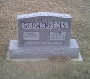 BLUEMENSTEIN, HAROLD - Washington County, Iowa | HAROLD BLUEMENSTEIN