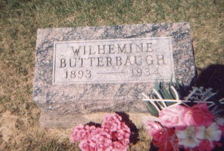 BUTTERBAUGH, WILHEMINE - Washington County, Iowa | WILHEMINE BUTTERBAUGH