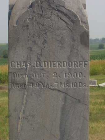 DIERDORFF, CHAS. D - Washington County, Iowa | CHAS. D DIERDORFF