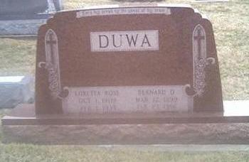 DUWA, LORETTA - Washington County, Iowa | LORETTA DUWA
