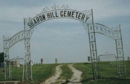 GATE, SHARON HILL CEMETERY - Washington County, Iowa | SHARON HILL CEMETERY GATE