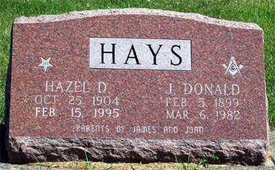 HAYS, JASPER DONALD - Washington County, Iowa | JASPER DONALD HAYS