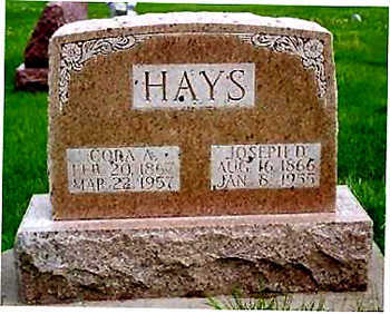 HAYS, CORA ANN - Washington County, Iowa | CORA ANN HAYS