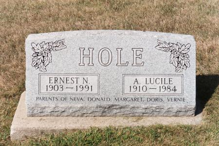 STRUM HOLE, LUCILE A. - Washington County, Iowa | LUCILE A. STRUM HOLE