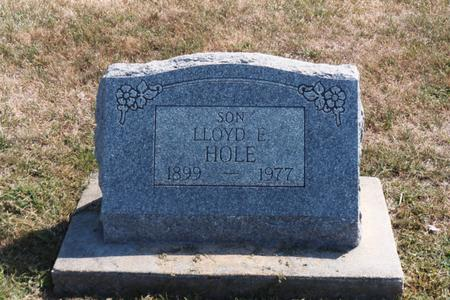 HOLE, LLOYD E. - Washington County, Iowa | LLOYD E. HOLE