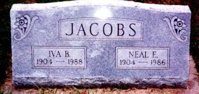 JACOBS, IVA BELLE - Washington County, Iowa | IVA BELLE JACOBS