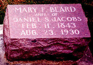 BEARD JACOBS, MARY FRANCES - Washington County, Iowa | MARY FRANCES BEARD JACOBS