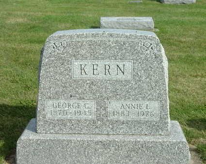 KERN, GEORGE G - Washington County, Iowa | GEORGE G KERN