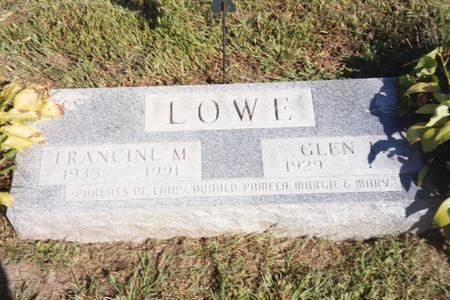 LOWE, FRANCINE - Washington County, Iowa | FRANCINE LOWE