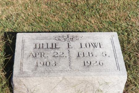 LOWE, TILLIE E. - Washington County, Iowa | TILLIE E. LOWE