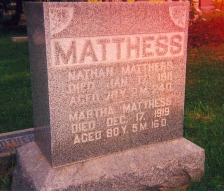 MATTHESS, MARTHA - Washington County, Iowa | MARTHA MATTHESS