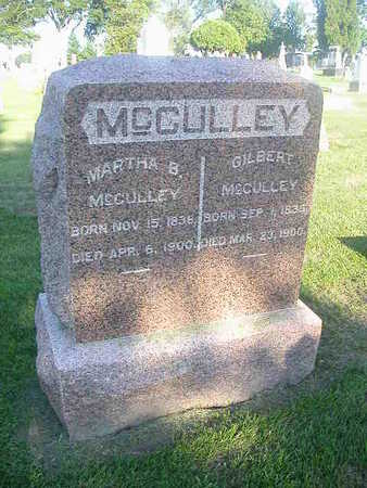 MCCULLEY, MARTHA B - Washington County, Iowa | MARTHA B MCCULLEY