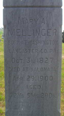 MELLINGER, MARY A - Washington County, Iowa | MARY A MELLINGER