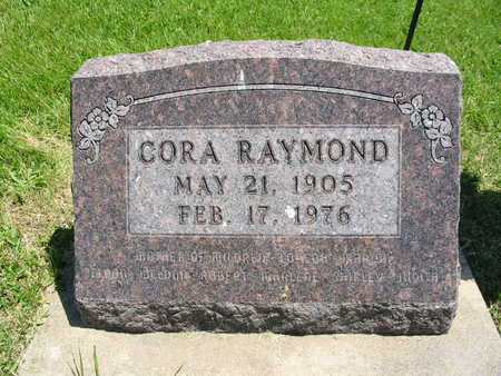 RAYMOND, CORA - Washington County, Iowa | CORA RAYMOND