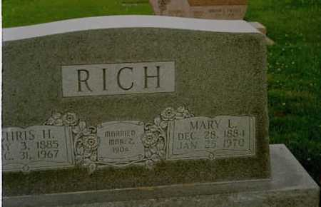 RICH, MARY L. - Washington County, Iowa | MARY L. RICH