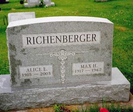 RICHENBERGER, MAX H. - Washington County, Iowa | MAX H. RICHENBERGER
