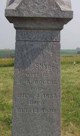 SNYDER ROGERS, ANNIE - Washington County, Iowa | ANNIE SNYDER ROGERS