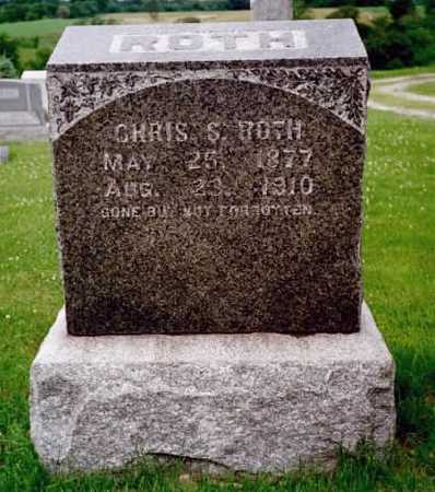 ROTH, CHRIS S. - Washington County, Iowa | CHRIS S. ROTH