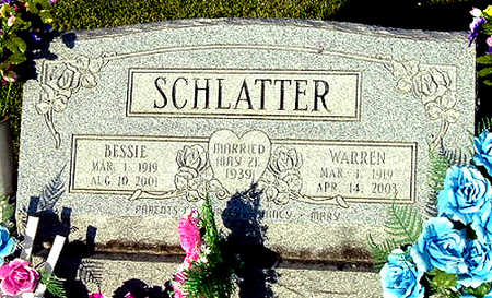 SCHLATTER, BESSIE MAY - Washington County, Iowa | BESSIE MAY SCHLATTER