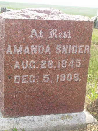 SNIDER, AMANDA - Washington County, Iowa | AMANDA SNIDER