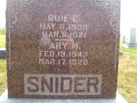 SNIDER, ARY M - Washington County, Iowa | ARY M SNIDER