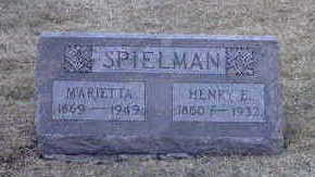 SPIELMAN, HENRY E. - Washington County, Iowa | HENRY E. SPIELMAN