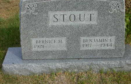 STOUT, BENJAMIN F - Washington County, Iowa | BENJAMIN F STOUT
