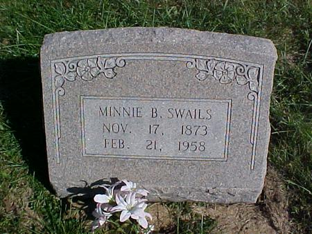 SWAILS, MINNIE B. - Washington County, Iowa | MINNIE B. SWAILS