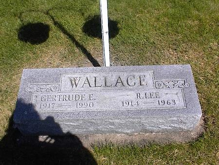 WALLACE, GERTRUDE MINNIE ELIZABETH - Washington County, Iowa | GERTRUDE MINNIE ELIZABETH WALLACE