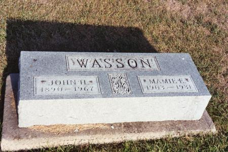 WASSON, MAMIE E. - Washington County, Iowa | MAMIE E. WASSON
