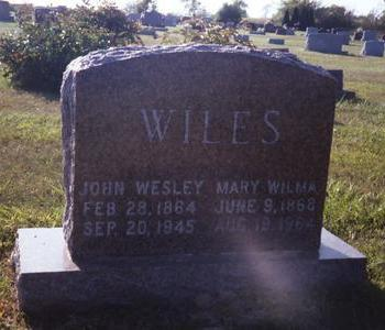 WILES, MARY WILMA - Washington County, Iowa | MARY WILMA WILES
