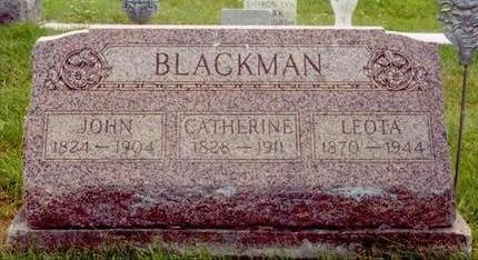 BLACKMAN, JOHN - Wayne County, Iowa | JOHN BLACKMAN