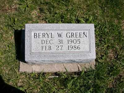GREEN, BERYL W. - Wayne County, Iowa | BERYL W. GREEN