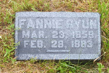 RYUN, FANNIE - Wayne County, Iowa | FANNIE RYUN