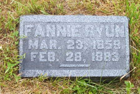RYUN, FANNIE - Wayne County, Iowa | FANNIE RYUN
