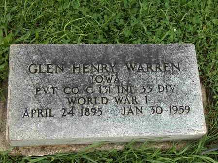 WARREN, GLEN HENRY - Wayne County, Iowa | GLEN HENRY WARREN