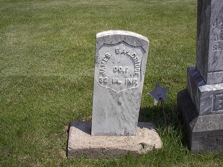 BALDRIDGE, JAMES - Webster County, Iowa   JAMES BALDRIDGE