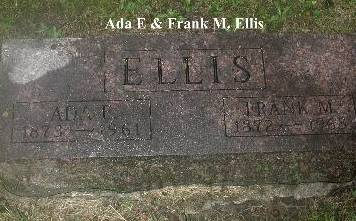 ELLIS, ADA E & FRANK M - Webster County, Iowa | ADA E & FRANK M ELLIS