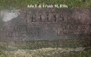 ELLIS, ADA E & FRANK M - Webster County, Iowa | ADA E & FRANK M ELLIS