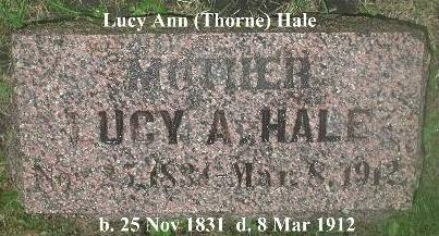 HALE, LUCY (THORNE) - Webster County, Iowa | LUCY (THORNE) HALE