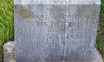 HEDEEN, DAUGHTER - Webster County, Iowa   DAUGHTER HEDEEN