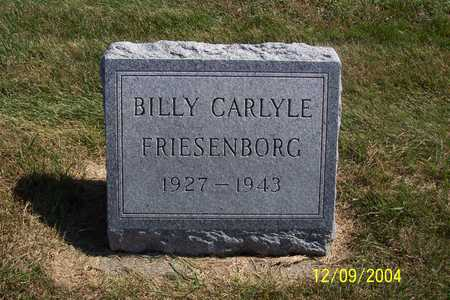 FRIESENBORG, BILLY CARLYLE - Winnebago County, Iowa | BILLY CARLYLE FRIESENBORG