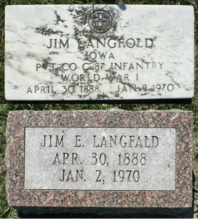 LANGFALD, JIM E. - Winnebago County, Iowa | JIM E. LANGFALD