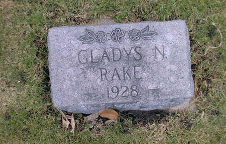 RAKE, GLADYS N - Winnebago County, Iowa | GLADYS N RAKE