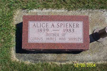 SPIEKER, ALICE A. - Winnebago County, Iowa | ALICE A. SPIEKER