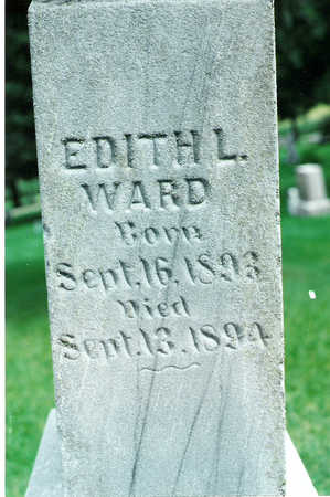 WARD, EDITH - Winnebago County, Iowa   EDITH WARD
